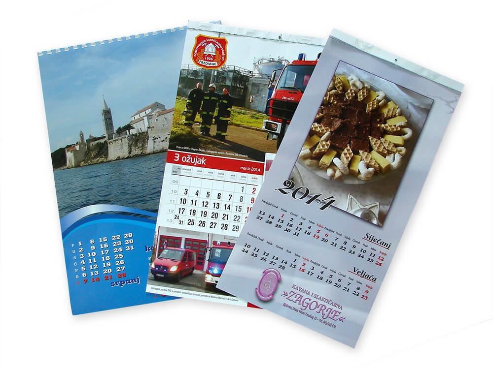 Kalendari, Tisak kalendara